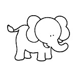 Glenna Jean Bella & Friends Elephant Wall Decal
