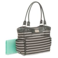 Carter's® Zip Down Changing Pad Diaper Bag in Grey/White