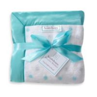 SwaddleDesigns® Stroller Blanket With Pastel and Sterling Dots