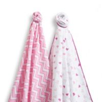 SwaddleDesigns® SwaddleDuo™ Blankets in Pink (Set of 2)