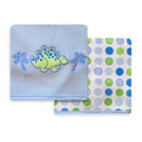 Spasilk® Dinosaur 2-Pack Thermal Receiving Blanket
