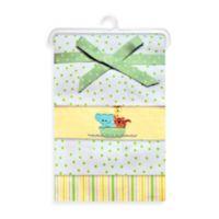 Spasilk® Noah's Ark Flannel Receiving Blanket (4-Pack)