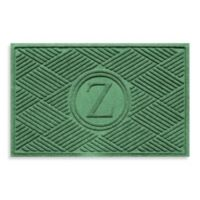 "Weather Guard™ Diamonds Monogrammed ""Z"" 23-Inch x 35-Inch Door Mat in Light Green"