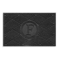 "Weather Guard™ Diamonds Monogrammed ""F"" 23-Inch x 35-Inch Door Mat in Charcoal"