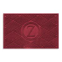 """Weather Guard™ Diamonds Monogrammed """"Z"""" 23-Inch x 35-Inch Door Mat in Red/Black"""