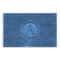 "Weather Guard™ Diamonds Monogrammed ""A"" 23-Inch x 35-Inch Door Mat in Medium Blue"