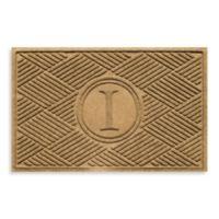 """Weather Guard™ Diamonds Monogrammed """"I"""" 23-Inch x 35-Inch Door Mat in Gold"""