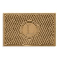 "Weather Guard™ Diamonds Monogrammed ""L"" 23-Inch x 35-Inch Door Mat in Gold"