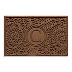 "Weather Guard™  Boxwood Monogrammed ""C"" 23-Inch x 35-Inch Door Mat in Dark Brown"