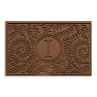 "Weather Guard™ Boxwood Monogrammed ""I"" 23-Inch x 35-Inch Door Mat in Dark Brown"