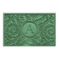 "Weather Guard™ Boxwood Monogrammed ""A"" 23-Inch x 35-Inch Door Mat in Light Green"