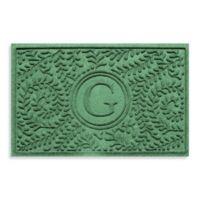 "Weather Guard™ Boxwood Monogrammed ""G"" 23-Inch x 35-Inch Door Mat in Light Green"