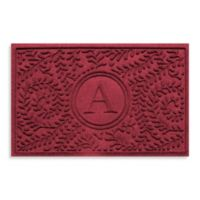 "Weather Guard™ Boxwood Monogrammed ""A"" 2-Foot x 3-Foot Door Mat in Red/Black"