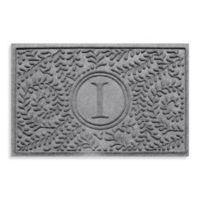 "Weather Guard™ Boxwood Monogrammed ""I"" 23-Inch x 35-Inch Door Mat in Medium Grey"