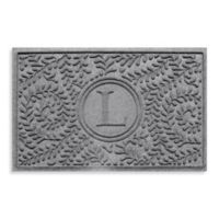 "Weather Guard™ Boxwood Monogrammed ""L"" 23-Inch x 35-Inch Door Mat in Medium Grey"