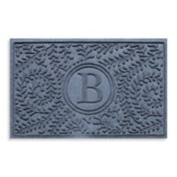 "Weather Guard™ Boxwood Monogrammed ""B"" 23-Inch x 35-Inch Door Mat in Bluestone"