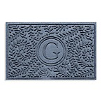 "Weather Guard™  Boxwood Monogrammed ""G"" 23-Inch x 35-Inch Door Mat in Bluestone"