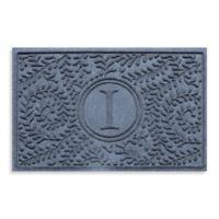 "Weather Guard™ Boxwood Monogrammed ""I"" 223-Inch x 35-Inch Door Mat in Bluestone"