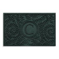 "Weather Guard™ Boxwood Monogrammed ""C"" 23-Inch x 35-Inch Door Mat in Evergreen"