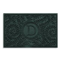 "Weather Guard™ Boxwood Monogrammed ""D"" 23-Inch x 35-Inch Door Mat in Evergreen"
