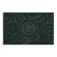 "Weather Guard™ Boxwood Monogrammed ""G"" 23-Inch x 35-Inch Door Mat in Evergreen"