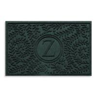 "Weather Guard™ Boxwood Monogrammed ""Z"" 23-Inch x 35-Inch Door Mat in Evergreen"