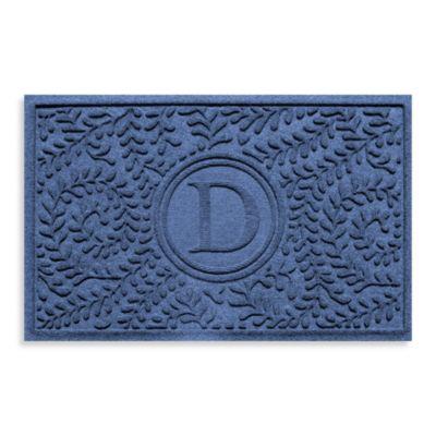 Monogrammed Floor Mats >> Buy Navy Blue Mat from Bed Bath & Beyond