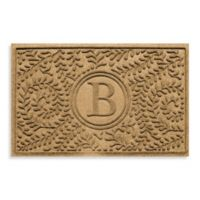 "Weather Guard™ Boxwood Monogrammed ""B"" 23-Inch x 35-Inch Door Mat in Gold"