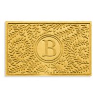 "Weather Guard™ Boxwood Monogrammed ""B"" 23-Inch x 35-Inch Door Mat in Yellow"