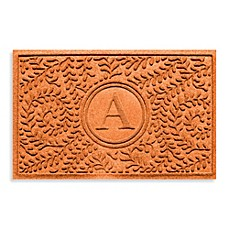 "Weather Guard™  Boxwood Monogrammed ""A"" 23-Inch x 35-Inch Door Mat"
