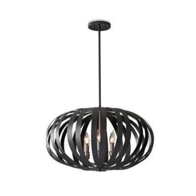 feiss woodstock 6 light textured large pendant light in black black pendant lighting