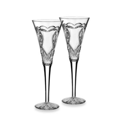 waterford wedding collection toasting flutes set of 2 - Waterford Champagne Flutes