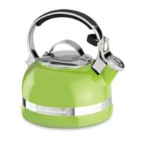 KitchenAid® 2-Quart Porcelain Enamel Tea Kettle with Stainless Steel Handle in Lime