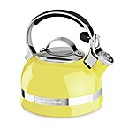KitchenAid® 2-Quart Porcelain Enamel Tea Kettle with Stainless Steel Handle in Citrus