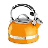 KitchenAid® 2-Quart Porcelain Enamel Tea Kettle with Stainless Steel Handle in Orange