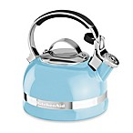 KitchenAid® 2-Quart Porcelain Enamel Tea Kettle with Stainless Steel Handle in Cameo Blue