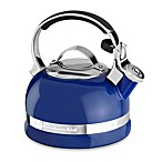 KitchenAid® 2-Quart Porcelain Enamel Tea Kettle with Stainless Steel Handle in Doulton Blue