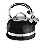 KitchenAid® 2-Quart Porcelain Enamel Tea Kettle with Stainless Steel Handle in Onyx