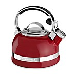 KitchenAid® 2-Quart Porcelain Enamel Tea Kettle with Stainless Steel Handle in Red