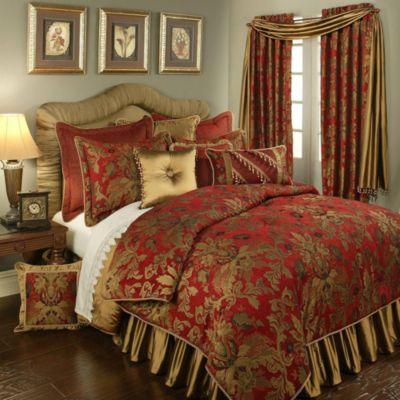 Austin Horn Classics Verona 4 Piece California King Comforter Set In Red