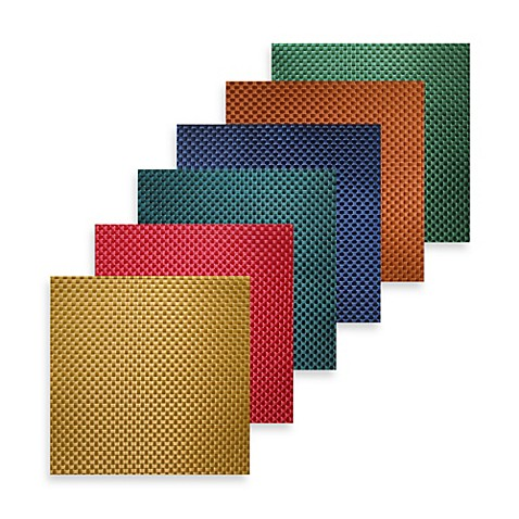 Bistro square vinyl placemat bed bath beyond for Small square placemats