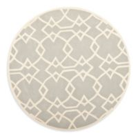 Safavieh Capri 7-Foot Round Rug in Grey/Ivory
