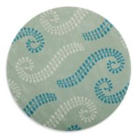 Safavieh Capri 7-Foot Round Rug in Silver/Blue