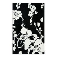 Safavieh Modern Art 5-Foot x 8-Foot Rug in Black/Ivory
