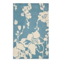 Safavieh Modern Art 4-Foot x 6-Foot Rug in Blue/Ivory