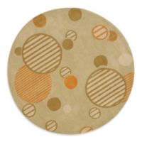 Safavieh Modern Art 7-Foot Round Rug in Sage/Multi