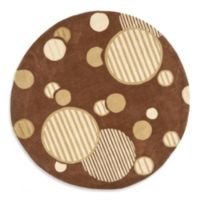 Safavieh Modern Art 7-Foot Circles Rug in Brown
