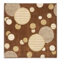 Safavieh Modern Art 7-Foot x 7-Foot Circles Rug in Brown