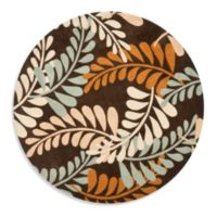Safavieh Modern Art 7-Foot Round Rug in Brown/Beige