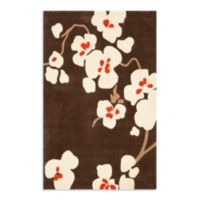 Safavieh Modern Art 4-Foot x 6-Foot Rug in Brown/Ivory